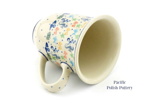 17oz Bistro Mug - Pattern 1316 - Pacific Polish Pottery  - 3