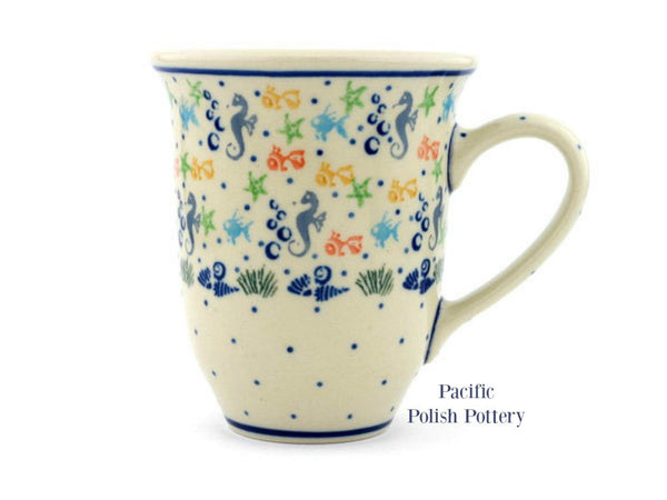 17oz Bistro Mug - Pattern 1316 - Pacific Polish Pottery  - 1