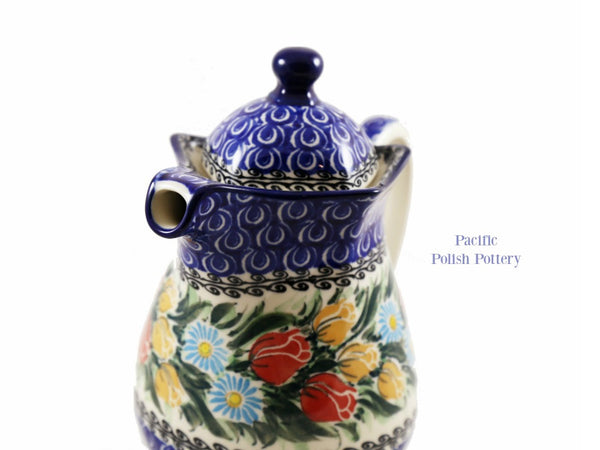 Unikat Coffee Tea Pot - Pattern 4475 - Pacific Polish Pottery  - 2