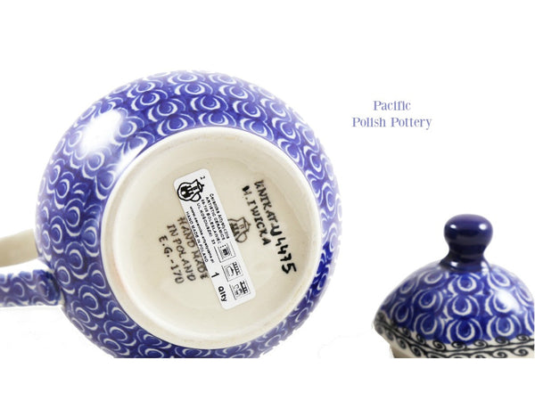Unikat Coffee Tea Pot - Pattern 4475 - Pacific Polish Pottery  - 4