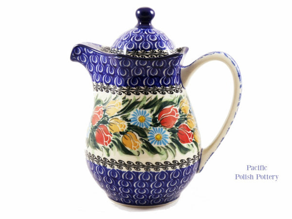 Unikat Coffee Tea Pot - Pattern 4475 - Pacific Polish Pottery  - 1