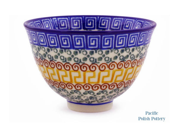 Small Footed Bowl - Polish Pottery Pattern 50 - Pacific Polish Pottery  - 1