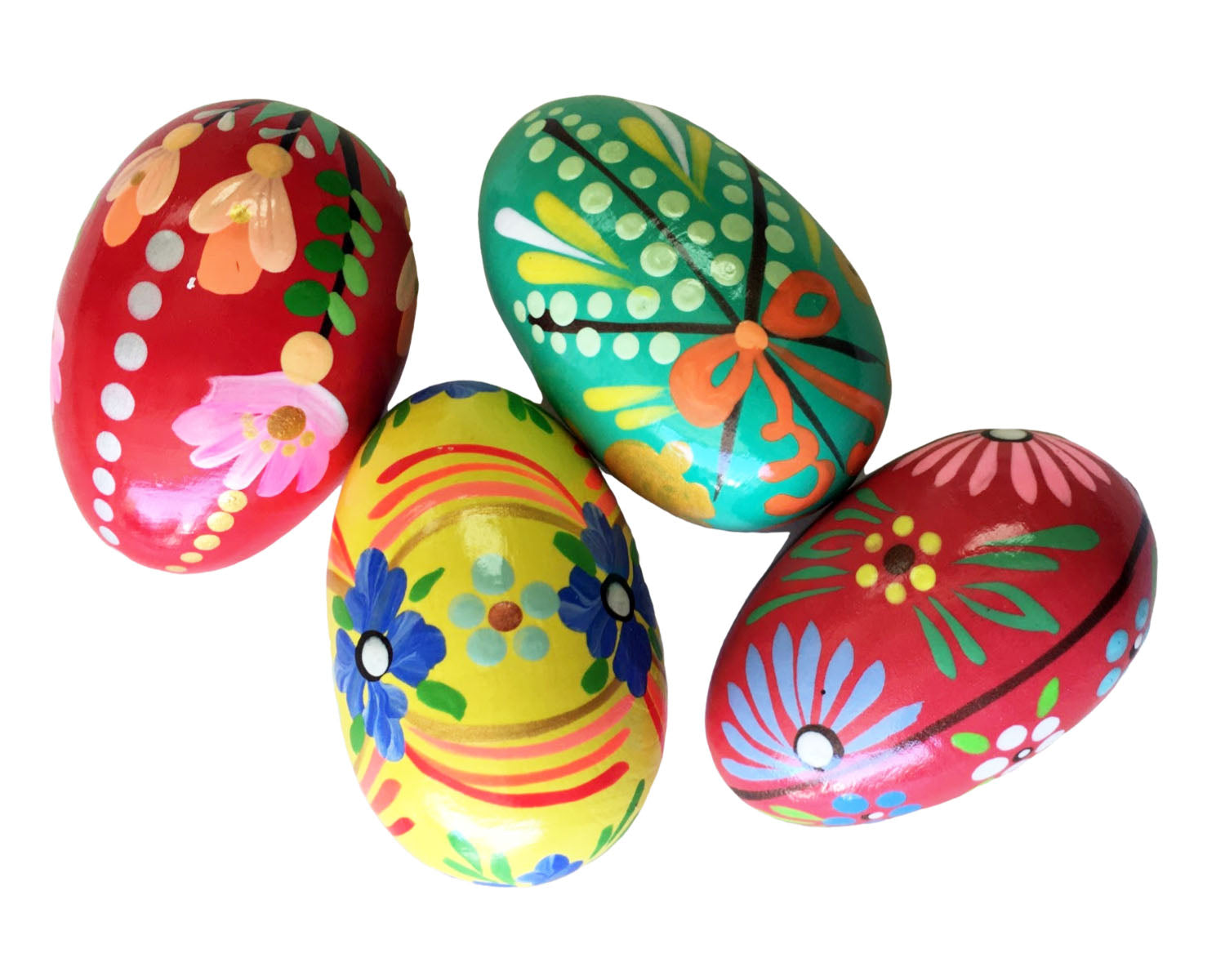 Pisanki Wooden Eggs - Set of 4