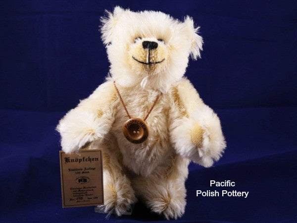 "German Made Limited Edition 8"" Mohair Bear - Pacific Polish Pottery  - 4"