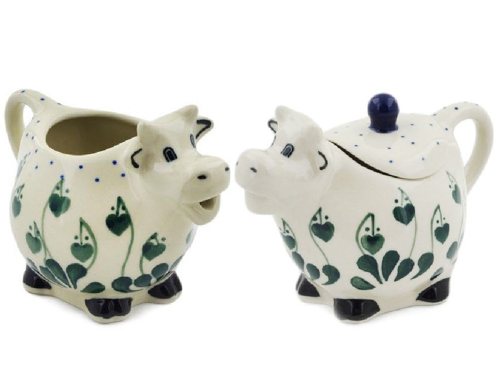Cow Sugar and Creamer Set
