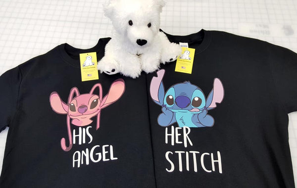 Angel and Stitch - His & Her Couples Shirt - Valentines Day - Disney Vacation