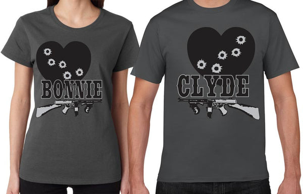 Bonnie and Clyde - His & Her Couples Shirt