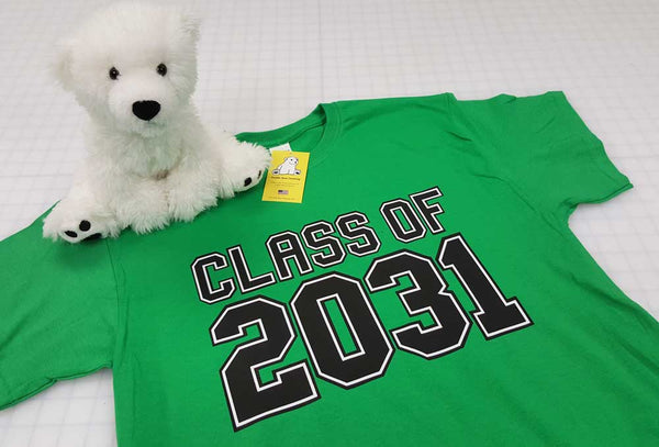Class of 2029, 2030, 2031... or any year includes optional hand-prints grades on back