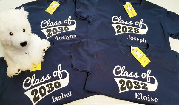 Class of 2017, 2018...2030, 2031... or Any Year...with Optional Name