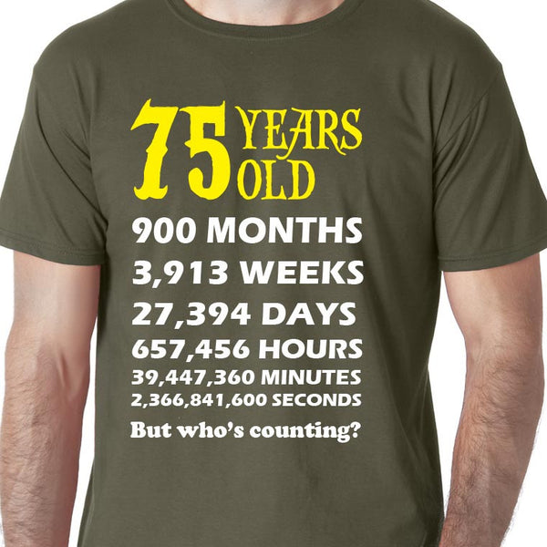 Your Age or Birthday Calculated T-shirt