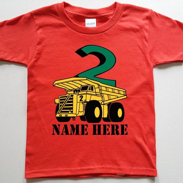Dumptruck with Your Child's Name and Age - in Toddler sizes