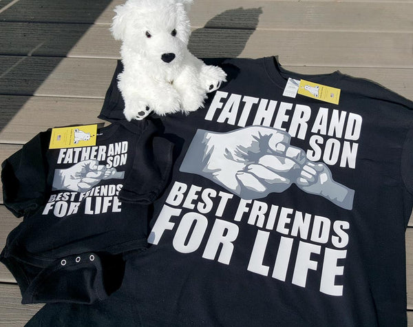 Father and Son or Sons (Twins or Triplets) - Best Friends For Life - Fist Bump T-shirt in all sizes