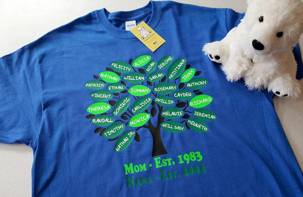 Family Tree - Perfect for Grand or Great-Grandparents on Short Sleeve T-shirt