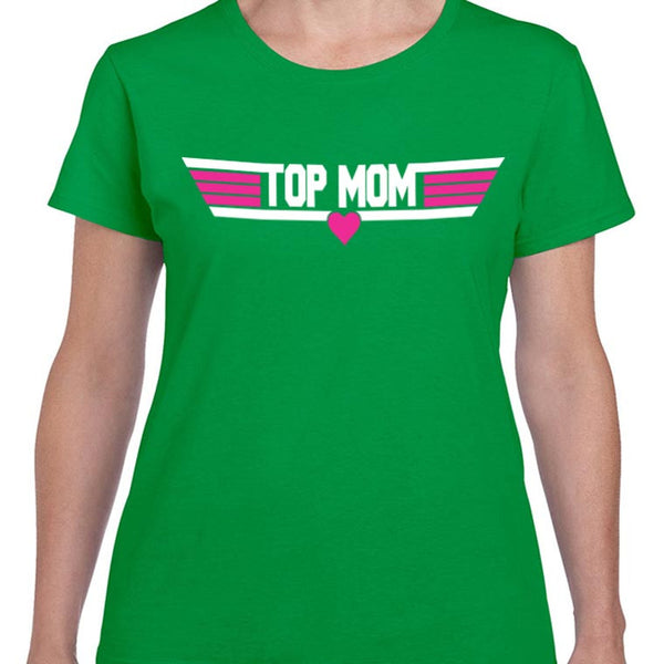 """Top Mom"" the Retro Top Gun Inspired T-shirt"
