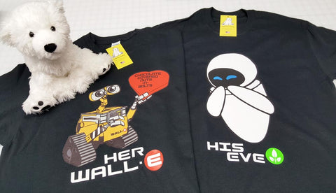 Wall-E and Eve - His & Her Couples Shirt