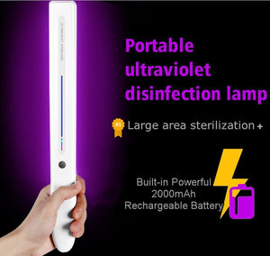 UV Light Wand Sanitizer For Large Areas - Ultraviolet UVC Germ Killing Light Wand