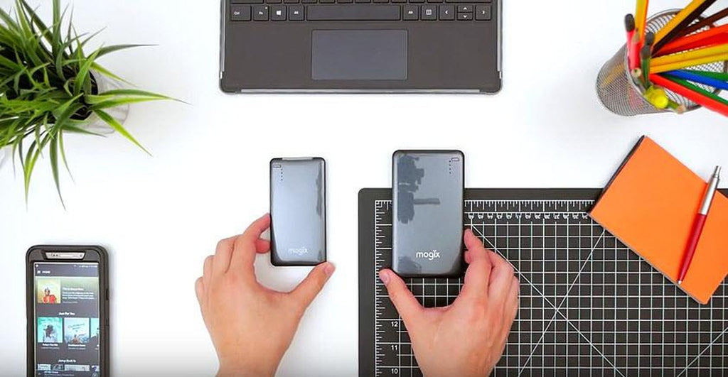 Which battery is right for you? Watch our video to the right to get more information on the two different models of power banks