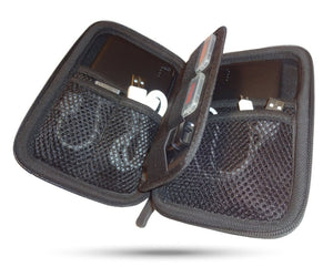 Electronics case with several webbed pockets to protect your gear