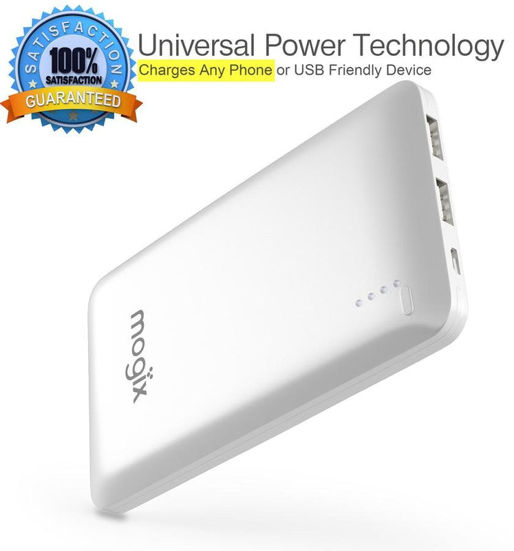2 Fast charging ports - Universal Portable and Easy to Use