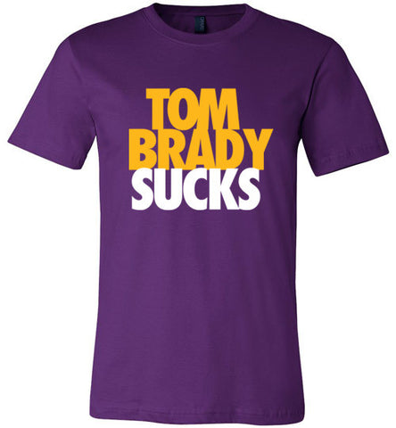 Brady Sucks, Gold on Purple