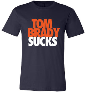Brady Sucks, Orange on Blue