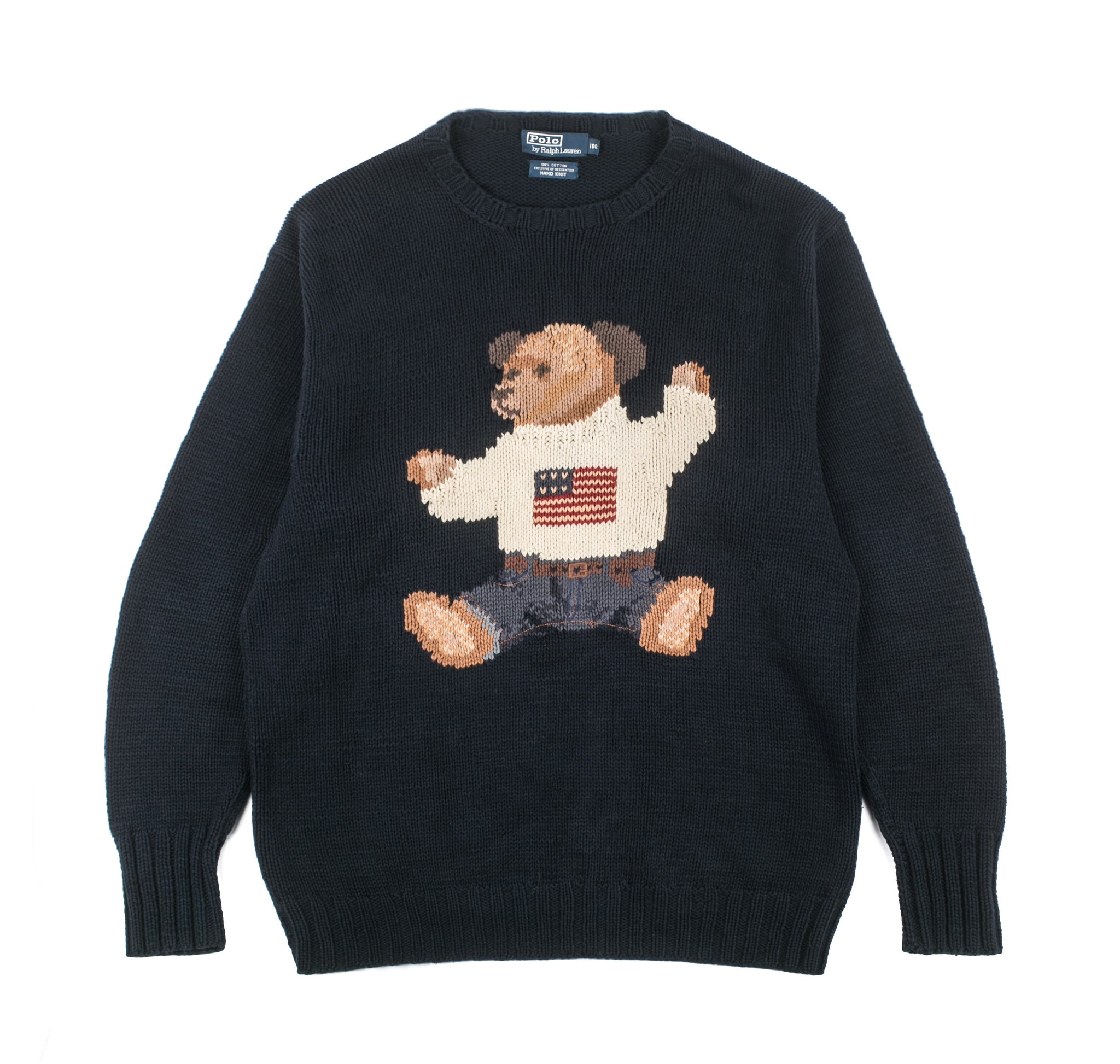 Vintage Ralph Lauren Teddy Bear Knit Sweater Better Gift Shop