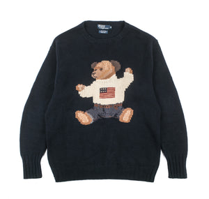 Vintage Ralph Lauren Teddy Bear Knit Sweater