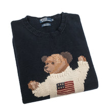 Load image into Gallery viewer, Vintage Ralph Lauren Teddy Bear Knit Sweater