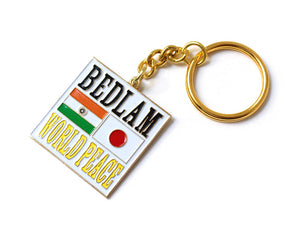 "Bedlam ""World Peace"" Enamel Keychain"