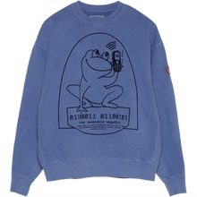 Load image into Gallery viewer, CAV EMPT Overdye Easily Comfortable Crewneck Blue