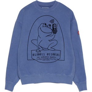 CAV EMPT Overdye Easily Comfortable Crewneck Blue