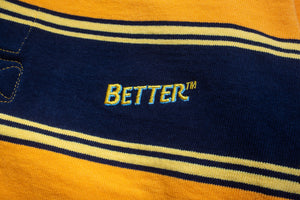 "Better™ ""Stripe"" Burnt Orange Barbarian® Rugby"