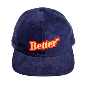 "Better™ ""Bullion Patch"" Navy Corduroy Cap"