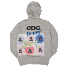 "CDG / Better™Gift Shop - Pandasex ""Flowers"" Heather Gray Hooded Sweatshirt"