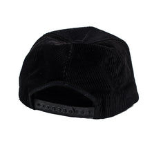 Vintage Champion Black Corduroy Snap Back Hat