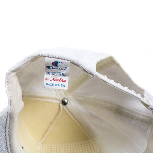Vintage Champion White Corduroy Snap Back Hat