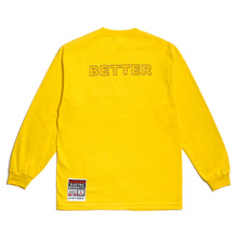 "Load image into Gallery viewer, Better™/Electro Magnetic ""Elektro"" Yellow L/S Tee"