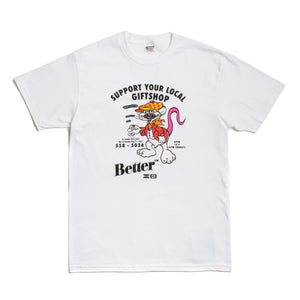 "Better™/Electro Magnetic ""Support Your Local"" White S/S Tee"