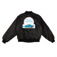 "Vintage ""Street Survivors"" Black Satin Nylon Jacket"