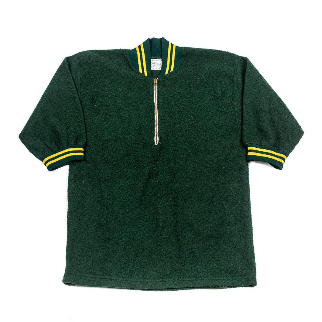 Vintage Champion Sports Marine Melton Wool Half Zip Jersey