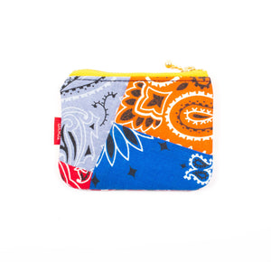 Tokyo Gimmicks Zip Coin pouch - Multi Color Paisley