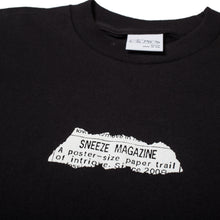 Load image into Gallery viewer, Sneeze Paper Trail Tee Black