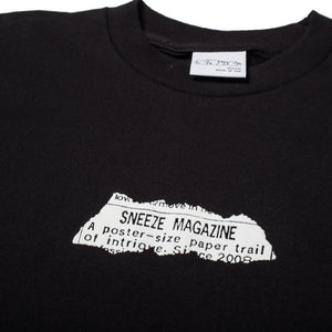 Sneeze Paper Trail Tee Black