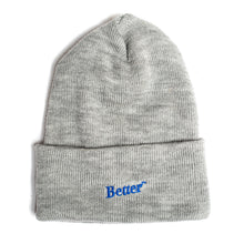 Load image into Gallery viewer, BetterTM Logo Beanie Grey