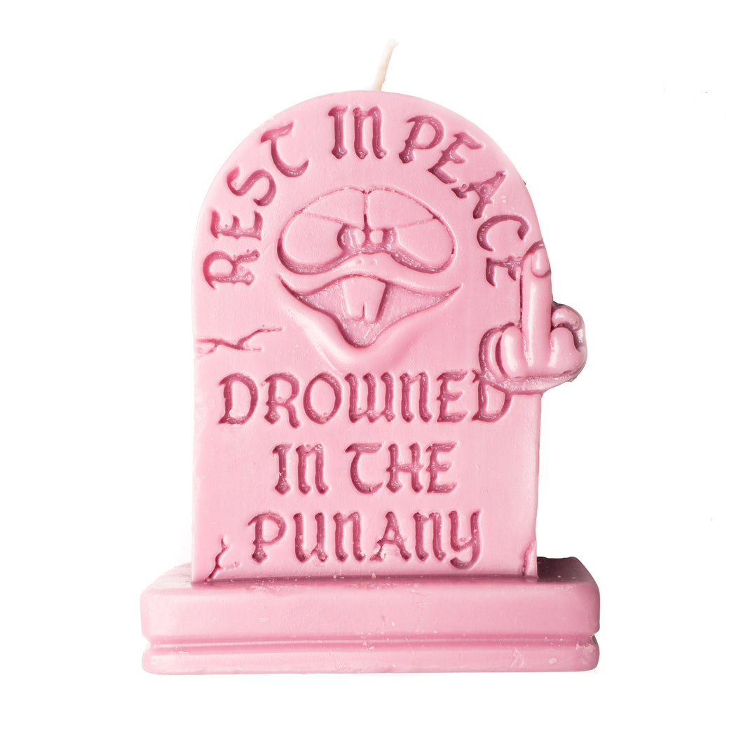PINK Punany 3D Object Candle