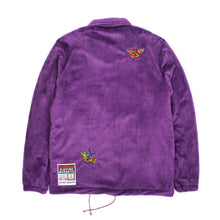 "Load image into Gallery viewer, Better™/Electro Magnetic ""Moth"" Short Pile Purple Fur Jacket"