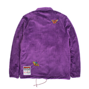 "Better™/Electro Magnetic ""Moth"" Short Pile Purple Fur Jacket"