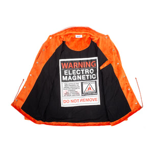 "Better™/Electro Magnetic ""Moth"" Short Pile Orange Fur Jacket"