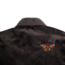 "Load image into Gallery viewer, Better™/Electro Magnetic ""Moth"" Short Pile Charcoal Fur Jacket"