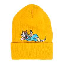 "Better™/Electro Magnetic ""Hanji"" Embroidered Yellow Beanie"